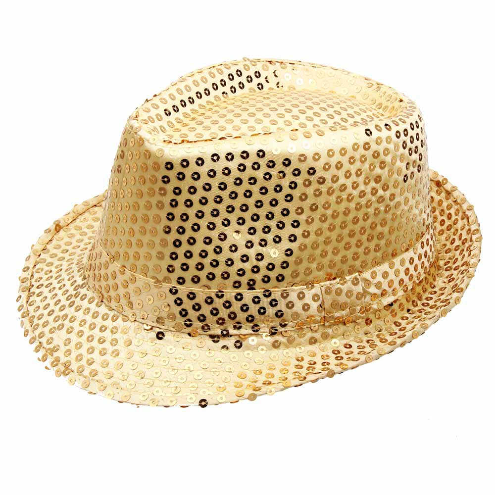 2018 New Hat Adults Children Jazz Hat Stage Dance Performance Sequin Magic  Show Bar Party Up 5f66fc56874d