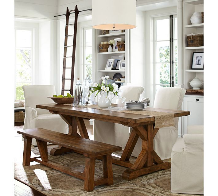 Vintage Dining Table With Bench Endearing Room Design And Tables