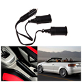 12V Car Cigarette Lighter Extension Cable Socket Cord 2-Way Double Plug H1E1 E#A