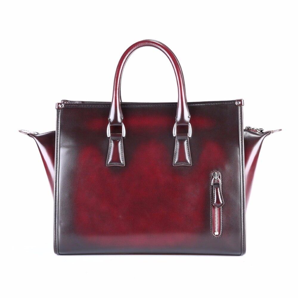 Womens leather gloves burgundy - Terse_bat Bag Handmade Genuine Leather Women Bag Burgundy Handbag Ladies Fashion Elegant Bag Zipper Bag Custom Logo Service