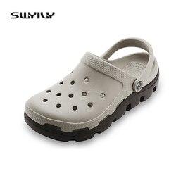 15 Couleurs Couture Nouvelle Femme Plat Sandales Doux EVA Sabots Summer Casual Trou Chaussures Lumière Plage Pantoufles 42 43 44 45
