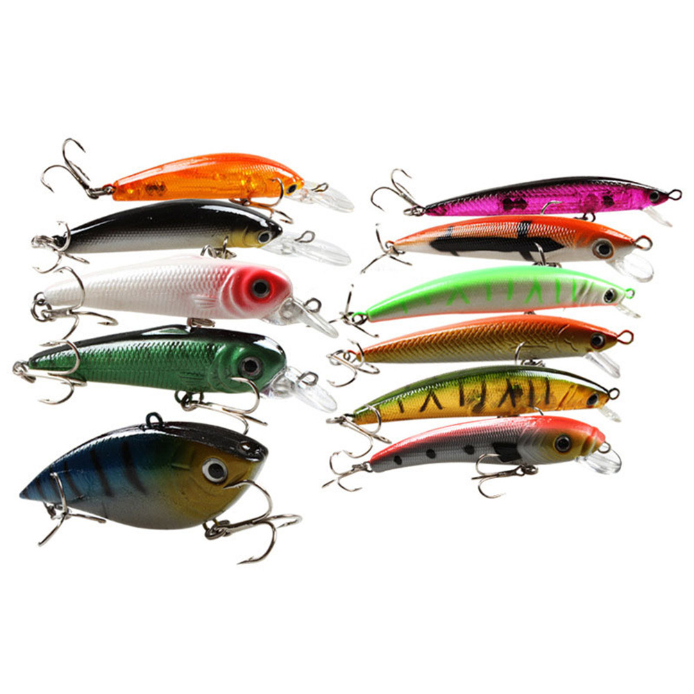 24pcs Fishing Lures Artificial Bait Fishing Lure Kit Isca Artificial Minnow/Popper Spinner Spoon Metal Lure Iscas dali 16 1 11в