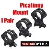 Vector Optics Tactical 35mm 34mm Low / Medium / High Profile Scope Mount Ring 21mm Picatinny Mount 6 Bolts Per Ring Matte Black