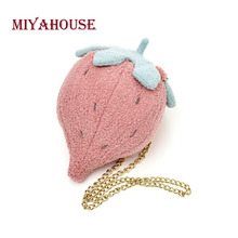 Miyahouse Candy Color Shoulder Bag With Chain For Female Embroidery Sweet Style Messenger Bag Women Cotton Fabric Crossbody Bag