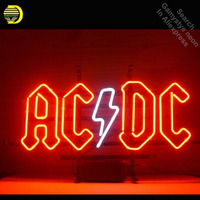 Neon Sign for Ac Dc Pinball Neon Tube sign handcraft Commercial windows Neon Flashlight sign Decorate Beer Bar pub game room