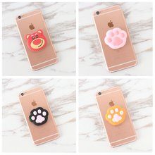 Round Animal cat unicorn Finger Holder for Smartphones and Tablets Flexible Expanding POP Desk Stand Mount for iphone 7 8 plus(China)