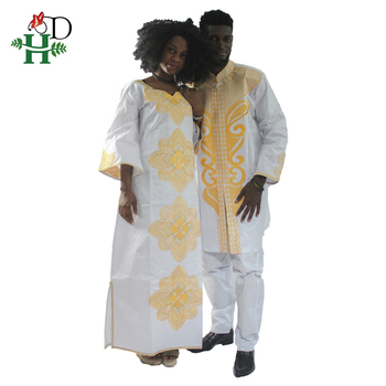 H&D 2019 traditional mens african clothing for men and women bazin riche  embroidery design Dashiki r