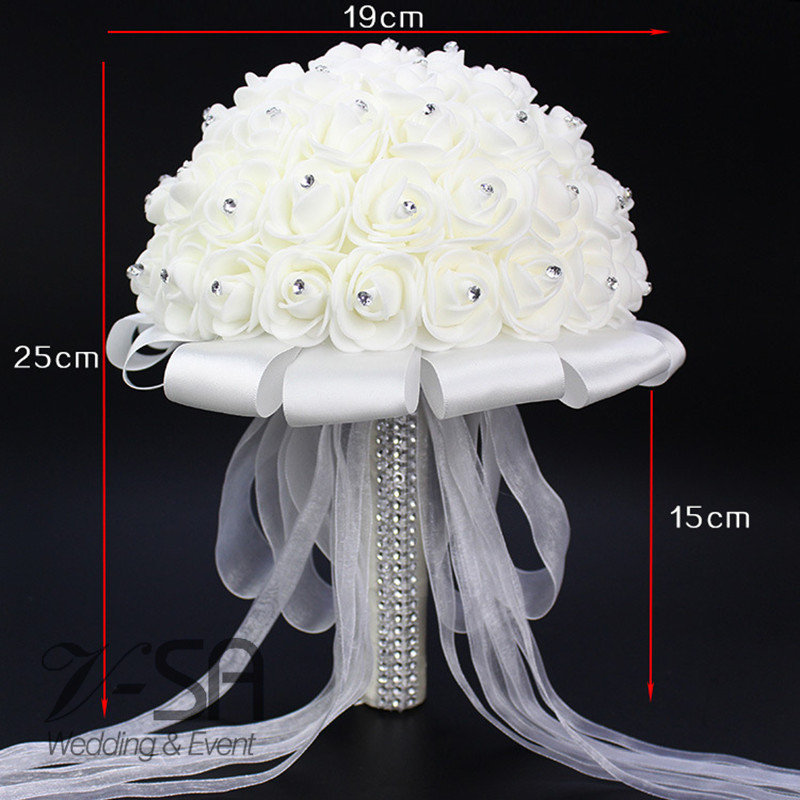 -2016-Top-Quality-Withe-Rose-Flowers-Wedding-Bouquet-With-Crystals-Satin-Ribbon-Ramo-Novia-Bridal (1)_