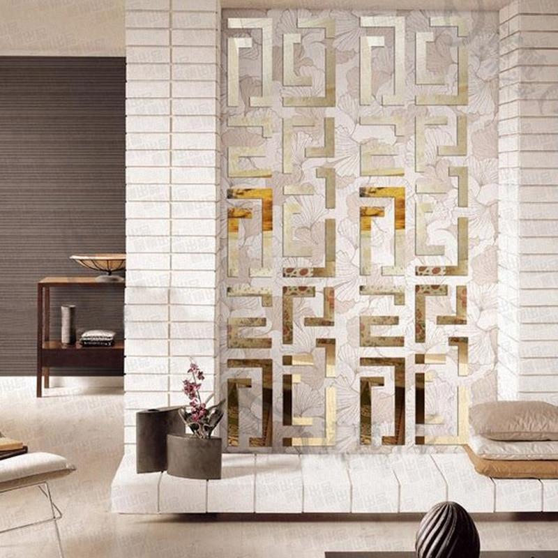 tv background wall crystal 3d wall stickers mirror acrylic home decoration waistline stickersbig mirror