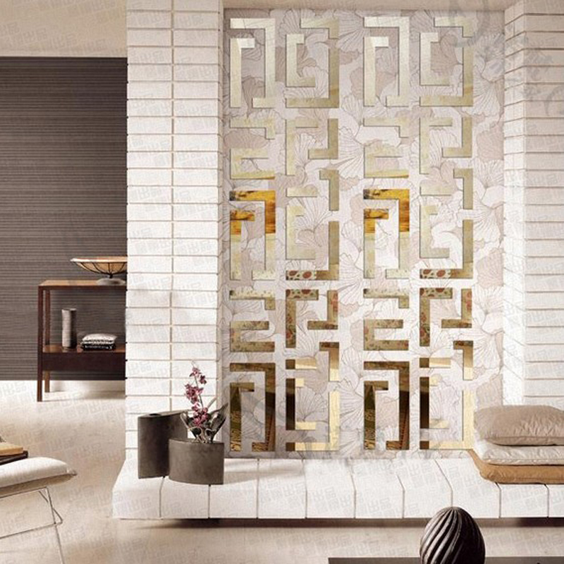 Fond Tv mur cristal 3d stickers muraux miroir acrylique décoration de la maison taille autocollants, grand miroir stickers muraux 50*200 cm