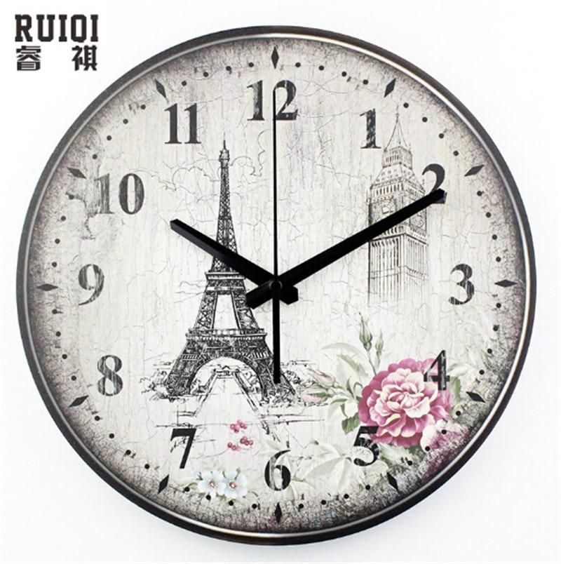 hot sale home decor large 3d wall clock quartz needle living room wall clock watch paris u0027eiffel tower diy digital clock