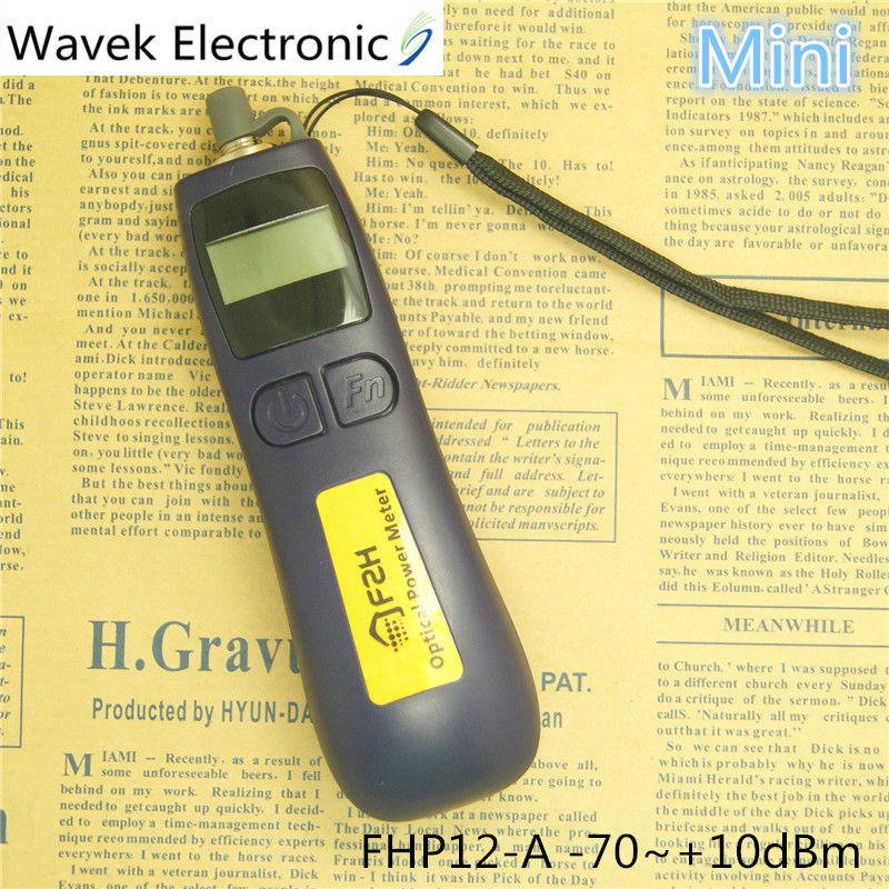 Handheld Grandway Mini FTTH Fiber Optical Power Meter FHP12-A Fiber Optical Cable Tester -70dBm~+10dBm Free Shipping