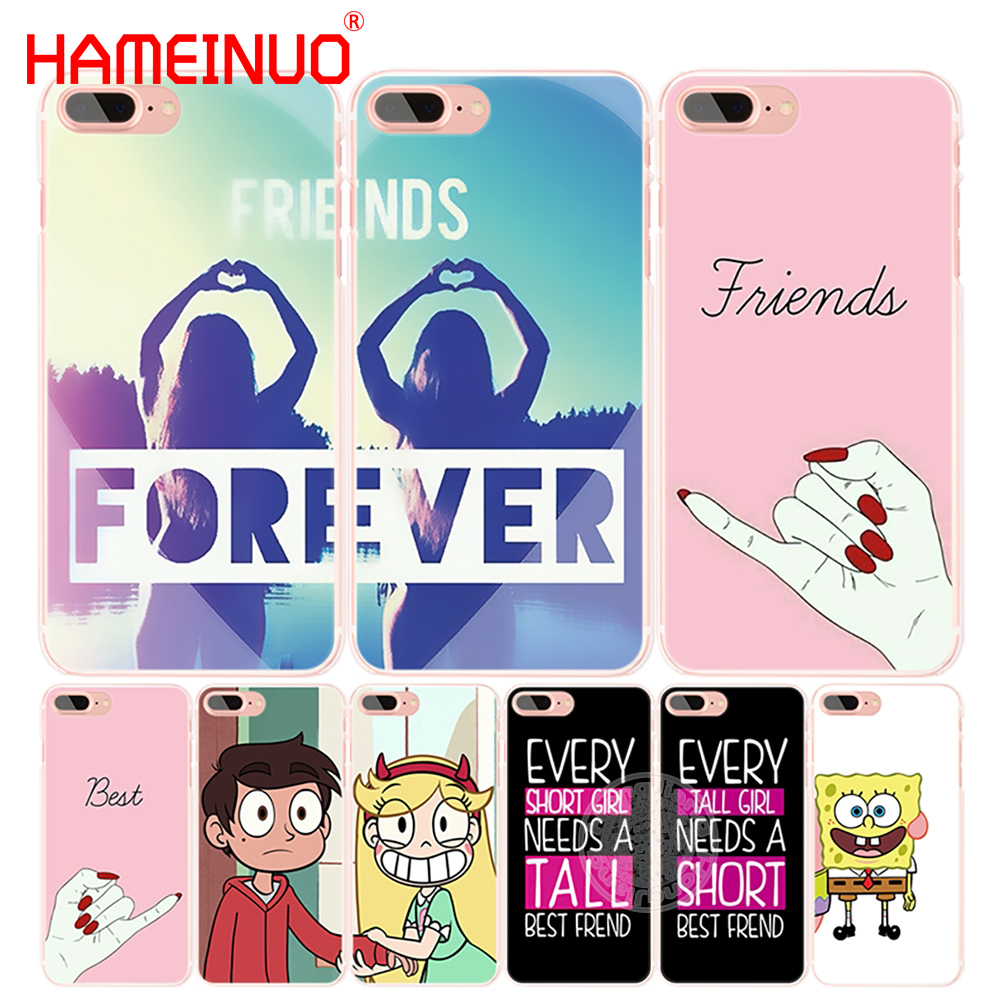 HAMEINUO best friend forever lovers couple cell phone Cover case for iphone 4 4s 5 5s SE 5c 6 6s 7 8 X plus Сотовый телефон
