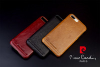 Pierre Cardin Luxury Genuine Leather Case For Apple IPhone 8 8 Plus Cell Phone Case New