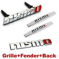 4pcs Sets NISMO Front Grille Fender Side Sticker Back Sticker Car Emblem Badge For NISSAN TIIDA