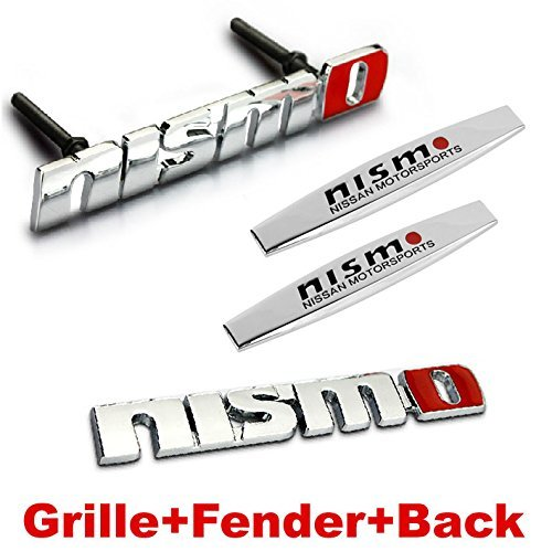 4pcs Sets NISMO Front Grille + Fender Side Sticker+ Back Sticker Car Emblem Badge For NISSAN TIIDA LIVINA QASHQAI X-trail Altima