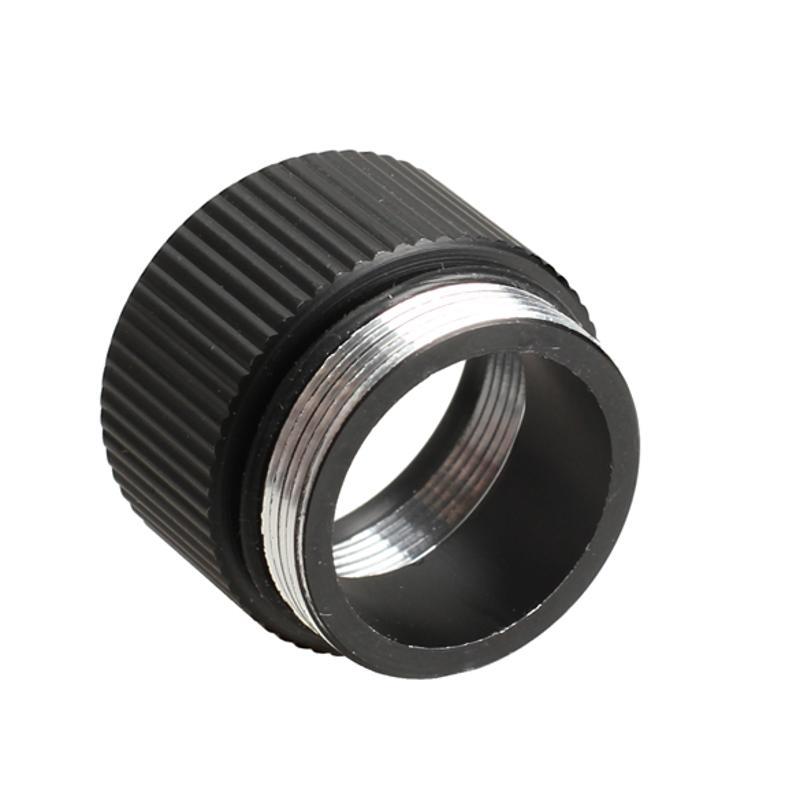 Black Ring Extension Ring Tube Joint Adapter For Bright Flashlight 18650 Lithium Battery Battery Holder Lamp Converter