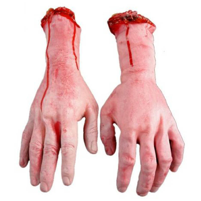 US $4 21 20% OFF|Hot Sale 1PC Severed Scary Cut Off Bloody Fake Latex  Lifesize Arm Hand Halloween Prop Hot-in Party DIY Decorations from Home &  Garden