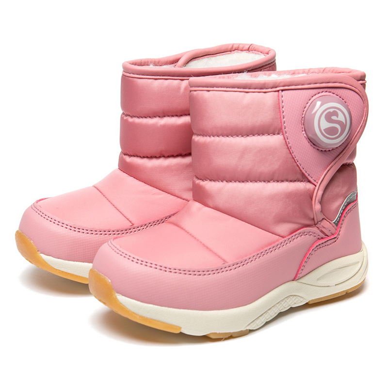 FLAMINGO Winter Orthotic Arch High Quality Kids Shoes Waterproof Wool Warm Anti-slip Size 22-27 Snow Boots for Girl 82D-NQ-1029