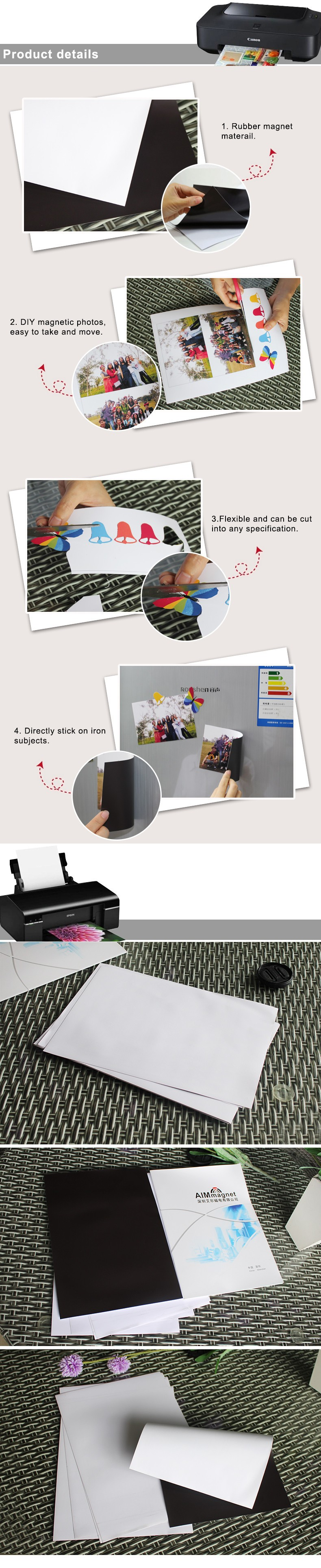 magnetic photo paper