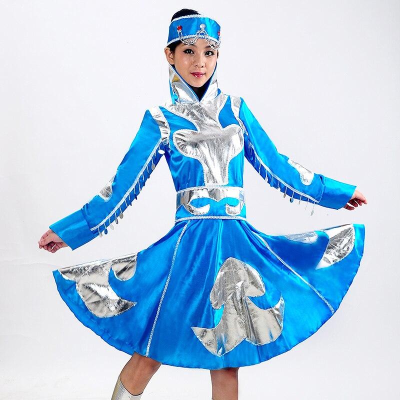 المرأة المنغولية الملابس مرحلة أداء الرقص تنورة ثوب فتاة المنغولية الرقص أقلية التبت الرقص ارتداء الطفل 89