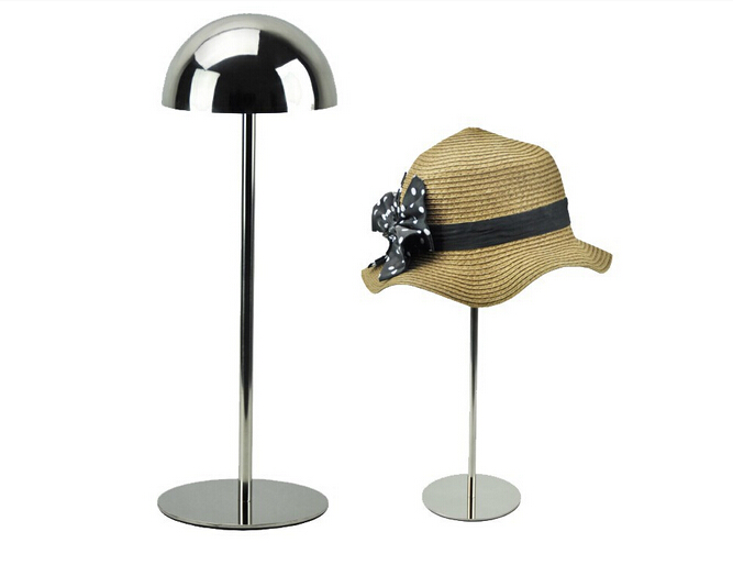 Support de présentoir de chapeau en métal avec le demi support de chapeau de dôme support de chapeau d'acier inoxydable