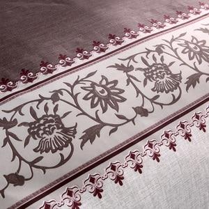 Image 3 - חום צבע קצר פרחוני שמיכה כיסוי סט מיטת סט תאום כפול מלכת גודל מצעי מצעים מצעים סטים (לא גיליון לא מילוי)
