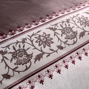 Image 3 - Brown Color Brief Floral Duvet Cover Set Bed Set Twin Double Queen size Bed linen Bedclothes bedding sets(No Sheet No Filling)