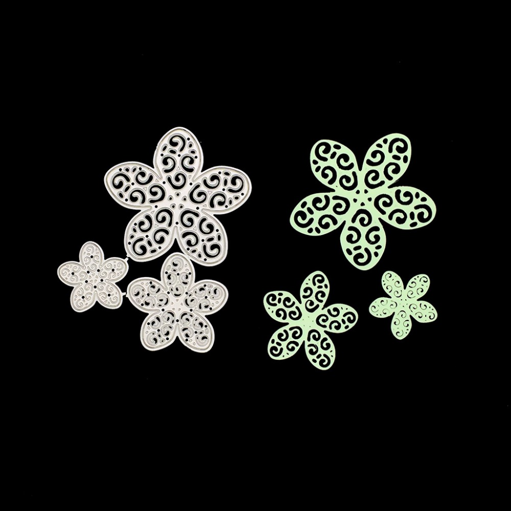 2 Swag Floral Cutting Die Card Making Scrapbooking Home Decor Craft Embossing