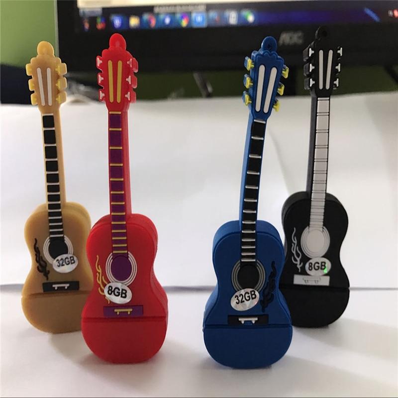 colourful guitar USB 2.0 usb flash drives thumb pendrive u disk usb creativo memory stick 4GB 8GB 16GB 32GB 64GB S331 BB