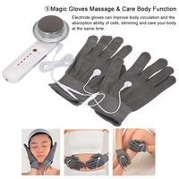 Electric Body Slimming Massager EMS Gloves Electrode Pads Anti Cellulite Photon Ion Face Machine Ultrasound Cavitation