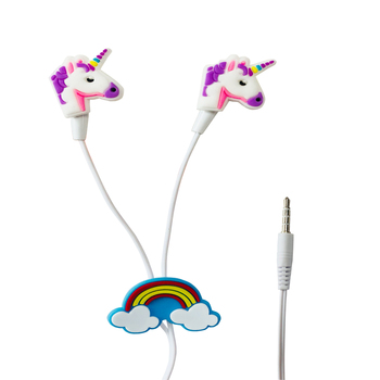 Colorful Unicorn Wired Earbud 3.5mm Earphone