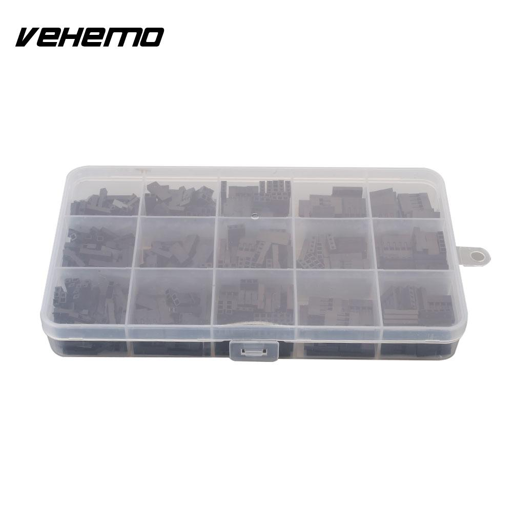 Vehemo Shell Wire Jumper Housing Cover Black 1-5 <font><b>Pin</b></font> ABS Premium Quality <font><b>Pin</b></font> <font><b>Header</b></font> <font><b>Assortment</b></font> <font><b>Pin</b></font> Connector Housing image