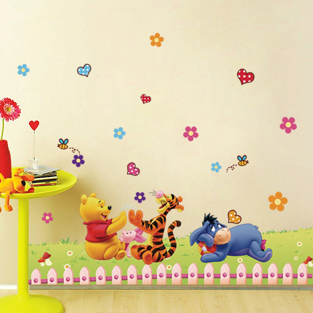 Free shipping cartoon children\'s room classroom walls decorated wall ...
