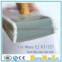 50 stks OCA Optische Duidelijke Lijm Film Dubbelzijdige Sticker voor Motorola MOTO E2 XT1527 XT1511 XT1505 outer Glas Lens reparatie