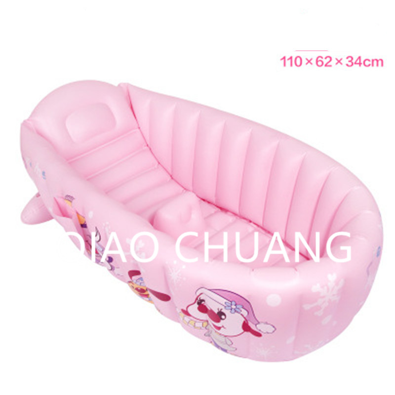 Kid Protable Piscina Heat Preservation Cartoon Printing Inflatable Bath Tub PVC Thicken Comfortable Baby Swimming Pool G980