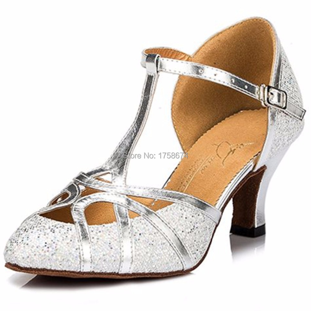 Women's Customized Gold Silver Pumps Low/Med/High Heels Ballroom ...