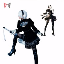 Athemis nier automata cosplay trajes yorha não. 2 tipo b cosplay traje 2b conjunto feito sob encomenda tamanho