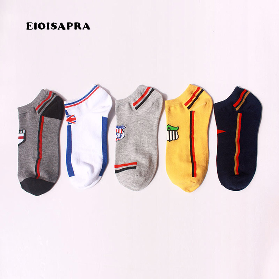 [EIOISAPRA]Fashion flag pattern cotton happy socks men breathable casual ship socks calcetines hombre
