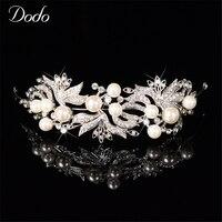 Luxury Austrian Crystal Vintage Wedding Hair Accessories Tiara Bridal Crown Headpiece Bridesmaid Headdresses Princess Design 34