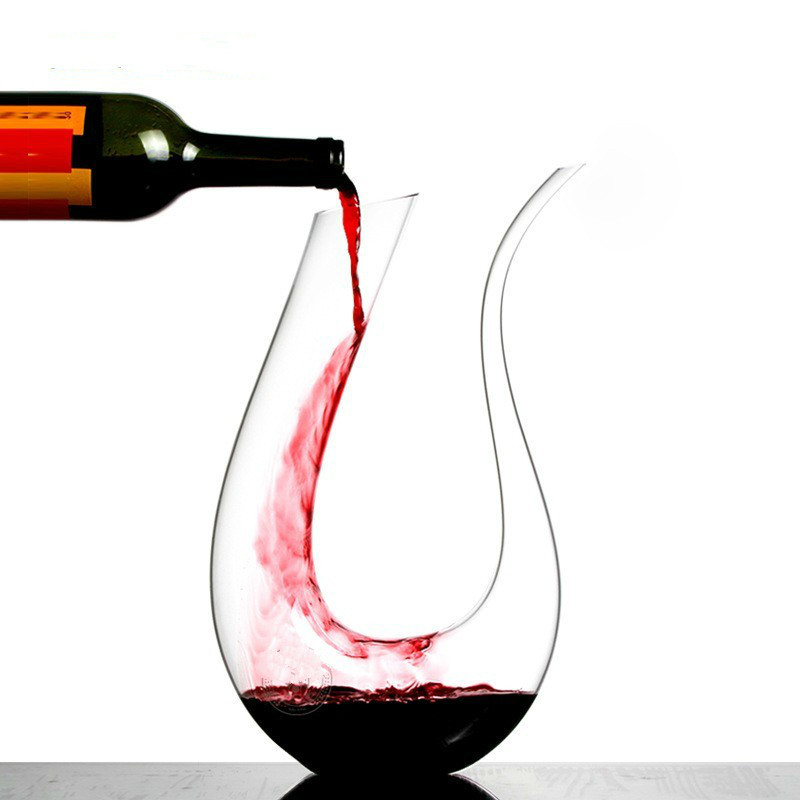 1500ML Big Decanter Handmade Crystal Red Wine Brandy Champagne Glasses Bottle Jug Pourer Aerator For Family Bar Vodka Cocktail image