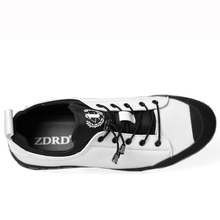 ZDRD Men's Breathable Causal Shoes Men Loafers high quality Lace-Up PU Leather Moccasins Bullock Men Oxfords Shoes Flats For Man