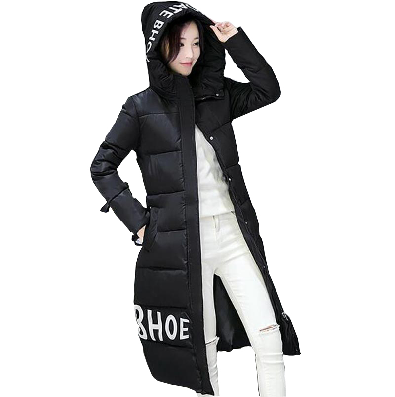 long winter jacket women coat down parkas hooded thicken slim cotton-padded outerwear fashion wadded plus size overcoat kp0773 winter down coat women 2016 fashion fur hooded slim waist x long down parkas women thicken wadded outerwear plus size xxl h6358