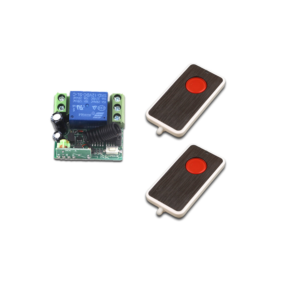 DC 12V 10A Wireless Relay RF Remote Control Switch Wireless Heterodyne Receiver Remote Controller Switch System 315/433MHz купить