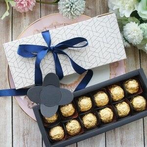 Image 4 - 9.5x24.5x3.5 CM elegante stile a nido dape 10 set caramella di Cioccolato candela Scatola di Carta di san valentino il giorno di Natale regali di compleanno confezione