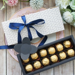 Image 4 - 9.5x24.5x3.5 CM zarif petek tarzı 10 set Çikolata şeker mum kağit kutu sevgililer günü Noel Doğum Günü hediyeler paketi