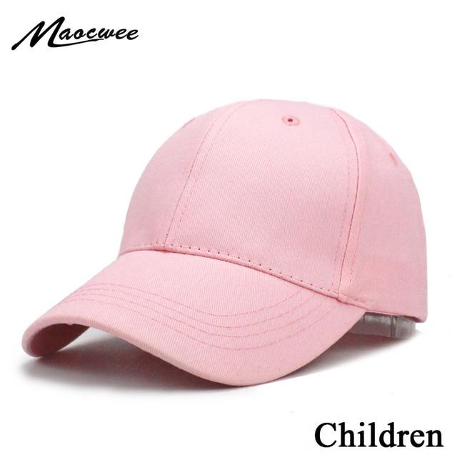 5f8b32daa6b Kids Solid Color Children Snapback Caps Baseball Cap With Spring Summer Hip  Hop Boy Girl Baby