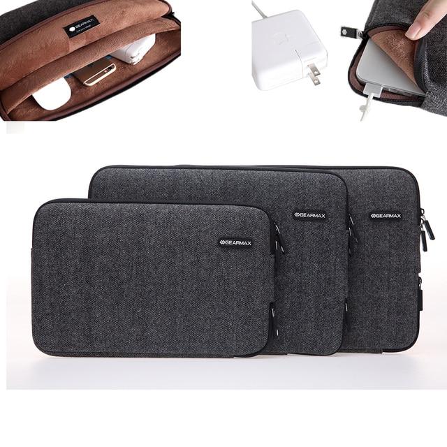 Gearmax Felt Sleeve Laptop Bag for Macbook Air 11 13 Pro 13 15 retina 12 Notebook Case for 11 12 13 15 inch Computer Bag
