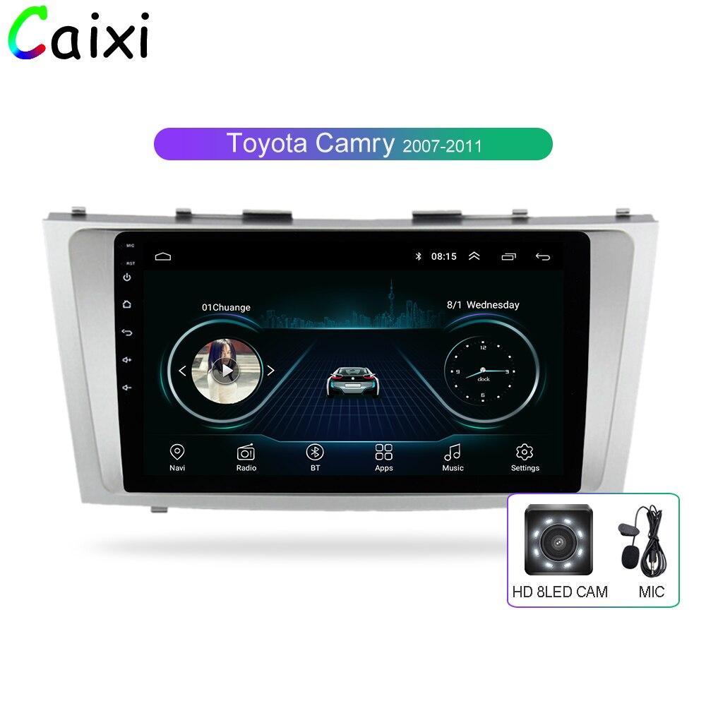 Carro 2din Xi 9 polegada 2.5D Android 8.1 Rádio DO CARRO DVD Player Multimídia Para Toyota Camry 2007 2008 2009 2010 2011 de Navegação gps