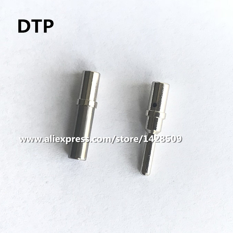 50/100 Pcs DTP 0462-203-12141 0460-204-12141 14AWG to 12AWG Stainless Steel Pin Automotive Connector Terminal For Deutsch w2dt crimper hdt 48 00 harley cater piller hand tool for deutsch connector deutsch dt dtm dtp terminal w2 pliers 12 26 awg